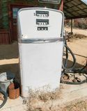 Old gas pump. Details, retro analog gas pump Royalty Free Stock Images