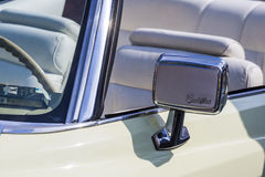 Details retro Cadillac car on avtoarena in Cheboksary Stock Photography