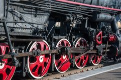 Details retro steam locomotive Stock Image