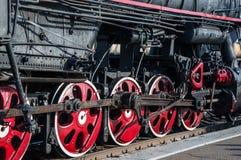 Details retro steam locomotive. Details of vintage steam locomotive Stock Image