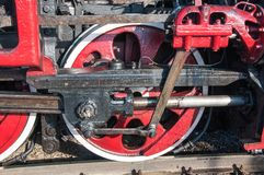 Details retro steam locomotive Royalty Free Stock Image