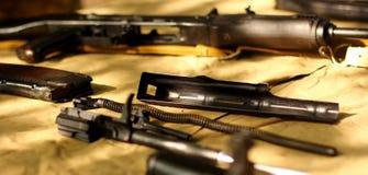 Details of rifles AK-47 Royalty Free Stock Photos