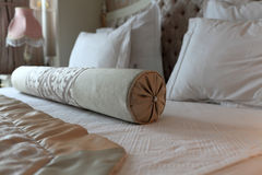 Details roller on the double bed Royalty Free Stock Photography