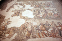 Roman mosaic in Paphos, Cyprus Stock Images