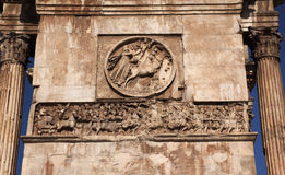 Details Roman Soldiers Constantine Arch Rome Italy Stock Photography
