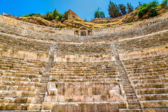 Details of Roman Theater in Amman Royalty Free Stock Images