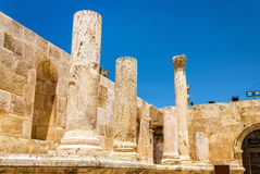 Details of Roman Theater in Amman Stock Photography