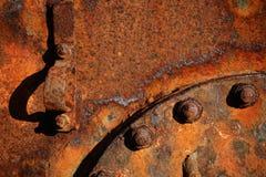 details rostigt stål Arkivfoto