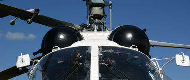 Details of the rotor current military helicopter Stock Photography