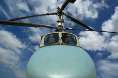 Details of the rotor current military helicopter Stock Photo