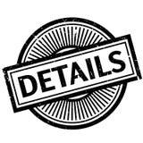 Details rubberzegel royalty-vrije illustratie