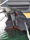 Details of rudder arrangements on board vintage wooden sailing ship Royalty Free Stock Photos