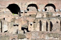 Inside the Colosseum of Rome royalty free stock photography
