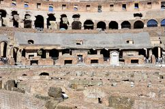 Inside the Colosseum of Rome royalty free stock photo