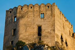 Details of Ruins of Beckov Castle royalty free stock images