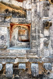 Details of Ruins in Chicanna, Mexico royalty free stock images