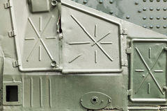 Details of Russian armored train from WWII Royalty Free Stock Images