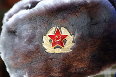 Details of russian winter hat Royalty Free Stock Photo