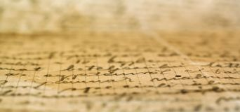 Details of a rustic vintage handwitten letter royalty free stock photography