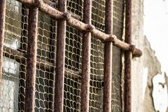 Prison Jail Cell Locked Bars Stock Image - Image of ...