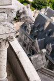 Details of the Sacre Coeur. Church and panorama view of Paris Stock Photo