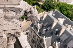Details of the Sacre Coeur. Church and panorama view of Paris Royalty Free Stock Photography