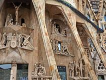 Sagrada Familia in Barcelona Spain Stock Images