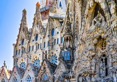 Details of Sagrada Familia Royalty Free Stock Image
