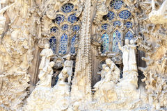 Details of Sagrada Familia, church  designed by Gaudi, Barcelona, Spain Stock Photography