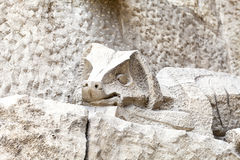 Details of Sagrada Familia, church  designed by Gaudi, Barcelona, Spain Royalty Free Stock Image