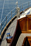 Details of sailboat. A sailboat with a old cabin Stock Photography