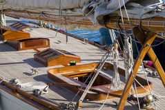 Details of a sailboat in old style Royalty Free Stock Image