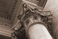 Details of San Giovanni in Laterano cathedral  Royalty Free Stock Photos