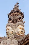 Details of Sanctuary of Truth temple, Pattaya, Thailand Stock Photography