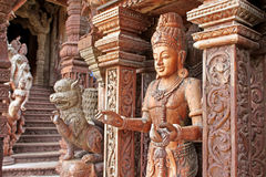 Details of Sanctuary of Truth temple, Thailand stock photography