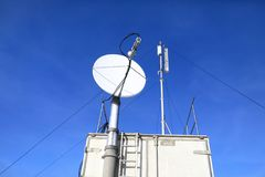 Details of satellite communication antenna Stock Photography