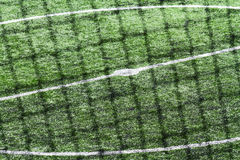 Details scene soccer ball sports. On artificial grass Stock Photo