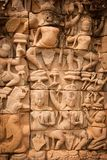 Details of sculpture, Angkor Wat, Cambodia Stock Photography