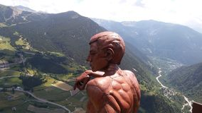 Roc del Quer, Andorra, July 11, 2018: The thinker royalty free stock photo