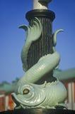 Details of sea serpent ornament in Marina, New York City, NY Stock Photo