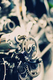 Details from a sectioned motorcycle engine Stock Photography