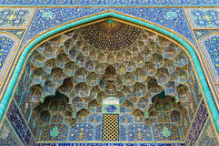 Details of Sheikh Lotfollah Mosque in Isfahan. Iran royalty free stock images