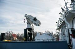 Details of the ship sea tug, Baltiysk, Russia Stock Photos