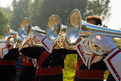 Details from a showband. Details form a Show and Marchingband, Uniforms and Instruments Stock Photography