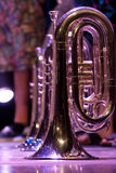 Details from a showband. Details form a Show and Marchingband, Uniforms and Instruments Royalty Free Stock Photos