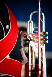 Details from a showband. Details form a Show and Marchingband, Uniforms and Instruments Royalty Free Stock Photo