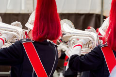 Details from a showband Royalty Free Stock Photo
