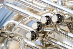 Details from a showband, fanfare our drumband Royalty Free Stock Images