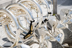 Details from a showband, fanfare our drumband Stock Photos
