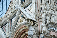 Details of Siena` Cathedral  ,Duomo di Siena Royalty Free Stock Image